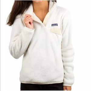 Patagonia White Re Tool Snap T Fleece Pullover XL